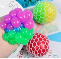 Sensory dedos brinquedos de borracha descompressão Balão brinquedo amassar autismo ansiedade sensação de estresse tpr dicromatic ball