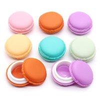Boîtes de rangement Bacs 6pcs / Set Makeup Organisateur Mini Macaron Sac de voyage Boîte de pièces de monnaie Belle Couleur Couleur Coque Couleur Porte Pochette Plastique bijoux