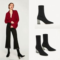 women fashion comfortable black suede leather ankle boots lady cool autumn & winter high heel martin boots botas t98K#