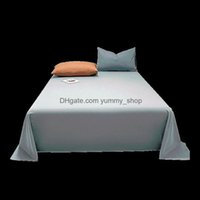 Sheets Bedding Supplies Textiles Home Gardensheets & Sets Cotton Washed Single Bed Pure Double 1.5M 1.8M Linen Sheet Drop Delivery 2021 Hels