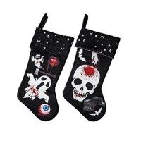 Cadılar bayramı çorap dekor açık ağaç süsleme hayalet kafatası çorap şeker çorap çanta cadılar bayramı hediyeler çanta cyz3263