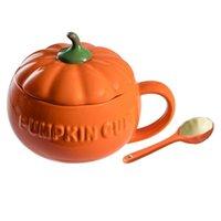Mugs 1 Set Ceramic Coffee Cup Multi-functional Water Mug Versatile (Orange)