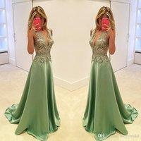 V-neck A-line Applique evening Lace Elegant dress prom wear celebrity dubai african custom made gown