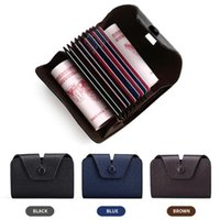 Card Holders Leather Unisex Credit ID Holder High Quality Women&Men Cards Case Wallet Cash Business Bank Package Bag