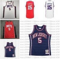 Maglie da basket della gioventù delle donne degli uomini BrooklynReti5 Jason.Kidd 15 Vince.Carter 2006-07 Bianco Blu Red Hardwoods classici Classici Retro Jersey