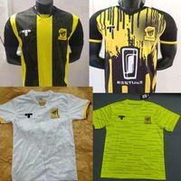 Ходовые трикотажные изделия 21 22 Al-ittihad Jersey Club Home Youse Рубашка 2021 2022 Саудовская Аравия Мужская Аль Ахли Джидда Желтые рубашки с коротким рукавом