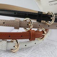 Belts Fashion Pu Leather Thin Belt For Women Designer Metal Buckle Waist Strap Brand Female Dress Jeans Decoration Waistband