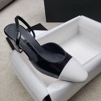 Summer Sandals Women Genuine Leather Shoes Patchwork Elegant 7cm High Heel Square Toe Mules Skin bottom party