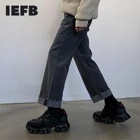 IEFB coréen large jambe jeans mode de mode pour hommes beaux de denim droites épaissies pantalons décontractés tendance pour hommes 9Y4485