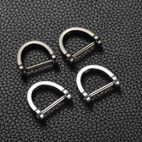 Horseshoe Mercedes Benz BMW Audi anti loss Zinc Alloy Car Keychain metal D-type buckle