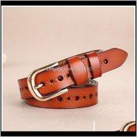 Aessies Aessorsors Belts Fashion Retro Hollow Hollow Pure Leather Joker diseñado para las cinturones de las damas Drop Entrega 2021 1cslp