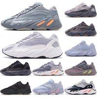 Kanye west  700 V2 running shoes yeezy 700 V2 chaussures de course V2 Nouveau style Vanta 700 V3 Alva Azaël Blue Mist Oat baskets sport mens Alien 36-45
