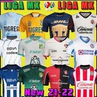 21 22 Fußball Jersey Tijuana Unam Tigres Club Amerika Cruz Azul Necaxa Leon Atlas Chivas Monterrey 2021 2022 Home Away Dritter Liga MX Football Hemden Uniform Mexiko