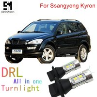 Emergency Lights Shinman Led DRL Daytime Running Light& Front Turn Signals All In One 1156 Ba15s For Ssangyong Kyron Action Auto Signal