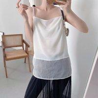 Women's Tanks & Camis Spaghetti Strap Top Women Halter Strapless Basic White Cami Sleeveless Satin Silk Tank Tops Summer Camisole Plus Size
