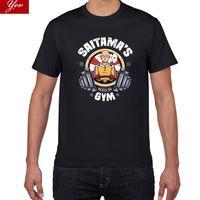 Rolig Anime One Punch Man Gym T-shirt Men Fashion Cool Confortable 's Tshirt Casual Loose Plus Storlek T-tröja för Top Tee
