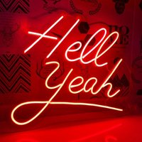 Other Event & Party Supplies Custom Hello Yeah Neon Sign 12V Decoration Transparent Acrylic 3D Flex Led Light Home Ins Wall Decor Room