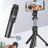 Selfie Monopods 3 In 1 Wireless BT 4.0 Stick Foldable Mini Tripod Extendable Monopod With Remote Control For Samsung IOS Android
