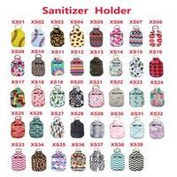 Neoprene Hand Sanitizer Bottle Holder Keychain Bags 30ml 10.3*6cm Key Rings Soap 39 Colors Hg01