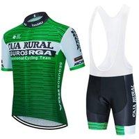 Caja Rural Cycling Jersey 2021 Été Vêtements de cyclisme Été Vêtements de séchage rapide Sport Racing Sport VTT Jerseys Bicycle Jerseys Bike Uniforme Maillot Ciclismo