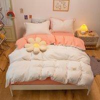 Set di biancheria da letto Silver Solid Set per casa da letto Camera da letto Flower Duvet Cover 150x200 Single Double King Size Personalità Copriletto Senza riempie