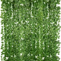 Decorative Flowers & Wreaths PARTY JOY 12Pcs 2.2M Artificial Ivy Leaf Hanging Plants Fake Silk Garland Greenery For Home Garden Wedding Wall