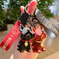 French Bulldog Key Chain Love Ring Car Keychain Accessories Purse Hand bag Backpack Charm Gift for Women Kids JG-Y093