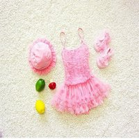 Two-Pieces Summer Baby Girls Swimwear Lovely Candy Color Tutu Skirt Sling Swimsuits Kids Fashion Clothes E1506 TD43
