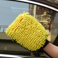 Car Sponge 1PCS Double Sided Microfiber Washing Hand Gloves Window Cleaning Towel Kitchen Accessories Dust Glove Household