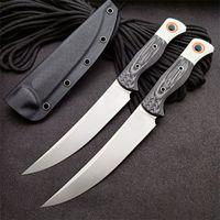 15500-1 Survival Düz Avcılık Bıçağı S45VN Saten Blade Tam Tang G10 Kolu Kydex ile Sabit Bıçakları Bıçaklar