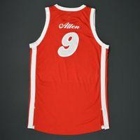 Raro basquete jersey homens juventude mulheres vintage jogo desgastado 1974-75 tony allen sons estrada 2015-16 temporada tamanho ensino médio s-5xl personalizado qualquer nome ou número
