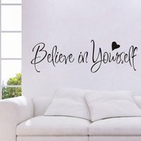 Wall Stickers Home Decor Inspiring Quote Portable Removable Art Bedroom Adhesive Easy Install Classroom Believe In Yourself Non Slip Study D