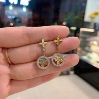 Bracelete de colar de aço inoxidável e brinco para mulheres letra v charme de luxo moda jóias conjunto de presente amigo brincos