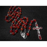 Branelli rossi Christ Crist Crucifixion Necklace Gioielli cristiani religiosi