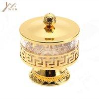 Высококачественный уникальный европейский стиль блестящая золотая отделка металлическая акриловая соль / сахар / чай / чай / кофе JARS посуда посуды