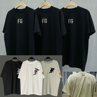 2021 Saison 7 T-shirt Peur de Dieu Brouillard Hommes Femmes FG Essentials Loisirs T-shirts T-shirts Skateboard Tendances Cool Boy Girl Tshirt Designers