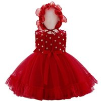 Girls Dresses 1st Birthday Dress For Baby Girl Clothes Lace Flower Birthday Formal Hats 2Pcs Party Princess Bowknot Kids Clothing B7236