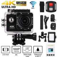"H9 Action Camera Ultra HD 4K   30fps WiFi 2.0"" 170D 30M Underwater Waterproof Camera Helmet Vedio Sport Go Pro Surfing Rock Climbing Exploration Roller Skating Cameras"