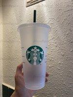 حورية البحر آلهة ستاربكس 24oz / 710 ملليلتر أكواب بلاستيكية بهلوان قابلة لإعادة الاستخدام شرب شرب مسطح أسفل عمود شكل غطاء القش أكواب 10 قطع القدح 1