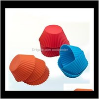 Other Kitchen, Dining Bar Home & Garden Drop Delivery 2021 Wholesale 100Pcs Mini Round Shape Sile Muffin Cupcake Mould Bakeware Maker Mold Tr