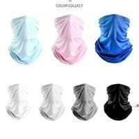 Унисекс Magic Scarf Bandanas Ice Silk Mask Открытый ветрозащитный пылевой вуаль навеса навеса дизайнерская защитная маска FWD8013