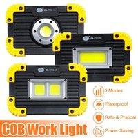 휴대용 초 롱 350W COB LED 투광 조명 USB 충전 충전식 자리 작업 램프 야외 캠핑 비상 조명