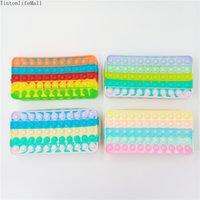 Latest Phone Case Pen Bag Push Bubble Fidget Toy Case Porch Deskfun Kids Squishy Anti Stress Toy