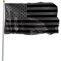 3x5ft الأسود العلم الأمريكي البوليستر لن يتم إعطاء ربع لنا الولايات المتحدة الأمريكية راية حماية التاريخية العلم على الوجهين في الهواء الطلق HWD4997