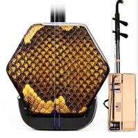 Chiński Erhu Dwa struny Skrzypce Feddded Instrument Muzyczny Struszony Łuk Drewna Z Akcesoriami Case Erheen