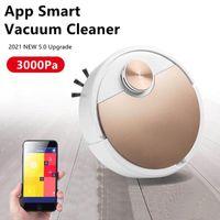 Dammsugare Robot Cleaner Smart Vaccum FPR Hem Mobiltelefon App Fjärrkontroll Automatisk Dammavlägsnande Rengöring Sopmaskin