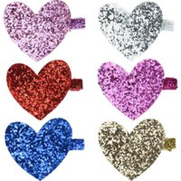 Dog Apparel 50 X Valentine's Day Pet Products Hairpins Sequin Heart Grooming Accessories Holiday Supplies Hair Bows Clips