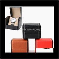 Boîtes Cases Accessoires Drop Livraison 2021 3 Couleurs Montres Cuir ARC Montre Arc Afficher les bijoux Boîte de rangement Boîte de rangement Single Slot Cadeaux Étui