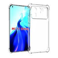 shockproof Clear transparent TPU with Four Corner Protective Case Cover Compatible for Xiaomi Mi 11 Ultra Mi 11 Pro poco X3 M3 Mi 10t Lite redmi Note 9 Pro 9S Note 10