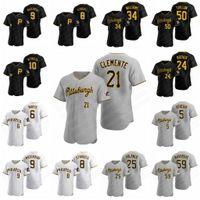 Pittsburgh Baseball Jerseys Pirates 21 Roberto Clemente 8 Willie Stargell 6 Starling Marte 55 Josh Bell 25 Gregory Polanco Road Williams Alternate Jameson Taillon